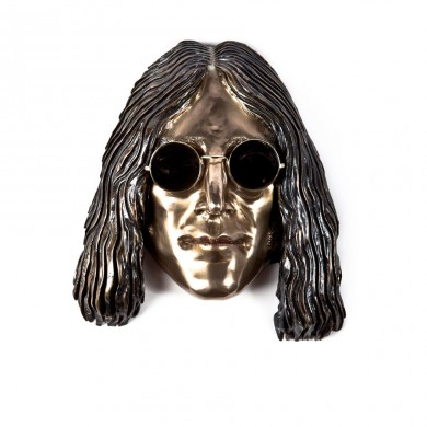 IMAGINE John Lennon ~ Bronze, brass, glass