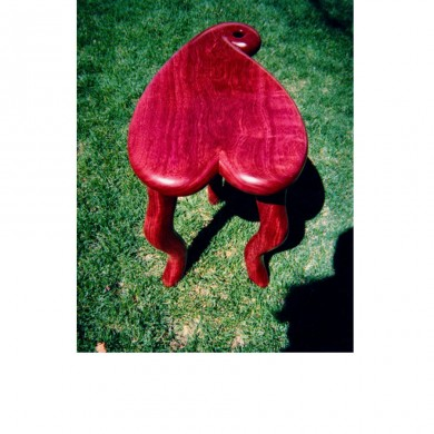 Purple Heart seat / table ~ Natural color of purple heart wood
