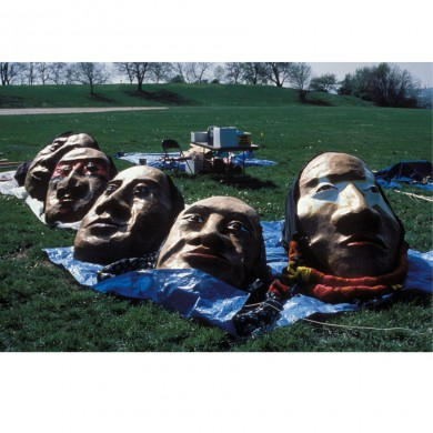 Paper Mache Faces ~ David was the Art Director for this project